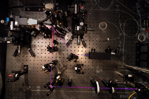 CAPTION This experiment at the Centre for Quantum Technologies in Singapore has made a record measurement of entanglement -- approaching the quantum limit with extreme precision. CREDIT Photo Credit: Alessandro Cerè / Centre for Quantum Technologies, National University of Singapore