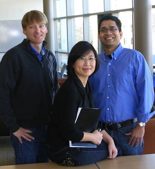 CAPTION From left: Jay Breidt, Sangmi Pallickara and Shrideep Pallickara, researchers at Colorado State University. CREDIT Lisa Knebl/Colorado State University Department of Computer Science